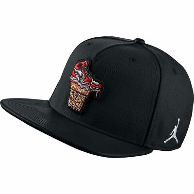 Air Jordan Ice Cream Hat Snapback Black White Red