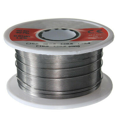 Fine Solder Wire 0.6mm 6040 2 Flux Reel Tube Tin Lead Rosin Core Soldering P