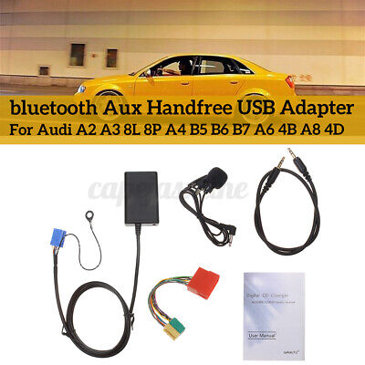 USB MP3 Interface Adapter bluetooth Aux Cable For Audi A3 8L 8P...