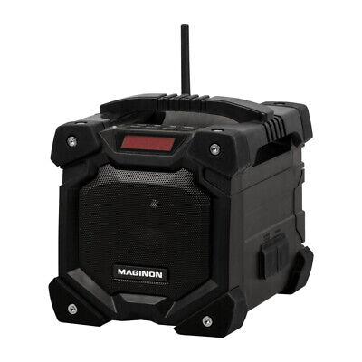 Akku Baustellenradio Radio AUX IN + Bluetooth | Wasserdicht IP45 Li-Ionen