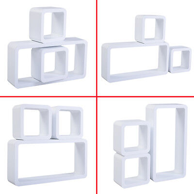 COSTWAY 3PC Floating Wall Shelves Shelf Display Decor Storage White MDF