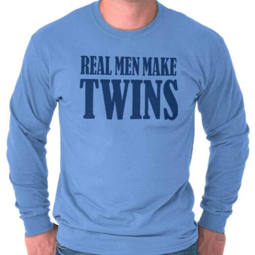 Real Men Twin Funny Shirt Father Day Gift Daddy Baby Cool Da