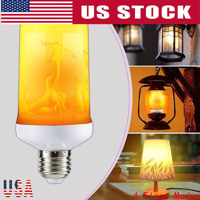 (E27 LED Burning Flicker Flame Effect Fire Light Bulb Christmas Decorative Lamp)