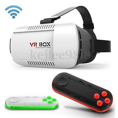 VR BOX Virtual Reality 3D Glasses Bluetooth Remote Control For Smartphone TV Box