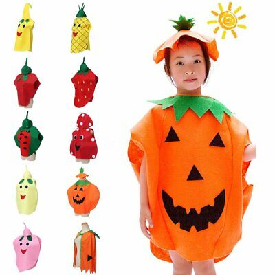 Unisex Child Halloween Party Fancy Dress Fruit Vegetable Cosplay Costume Suits