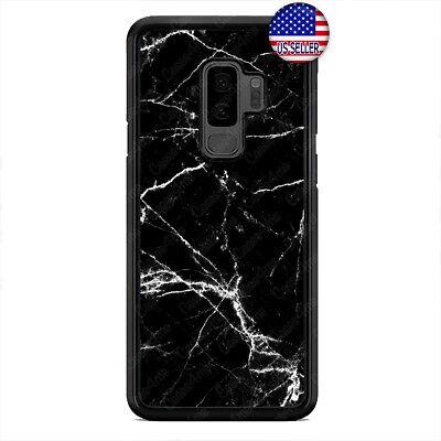 Black Galaxy Stone (Black White Marble Case Cover Fine Stone For Samsung Galaxy S10e S10+ S9 Plus S8)