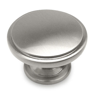 Cosmas Satin Nickel Round Oversized Bi-fold Bifold Door Knobs -
