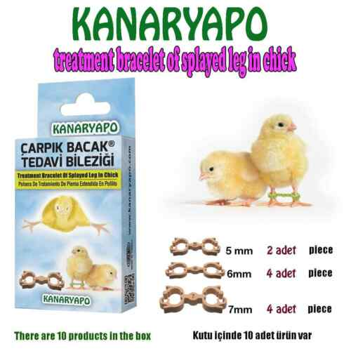 Chicken Chick Splayed Leg Treatment Bracelet Bird Bands  10 Leg Rings