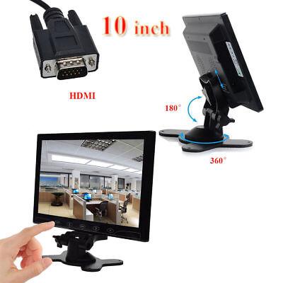 """10"""" Ultrathin LCD Monitor Screen AV/RCA/VGA/HDMI Video for CCTV DSLR RaspberryPI"""