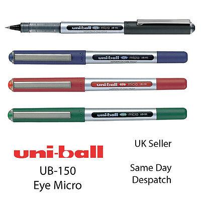 10x Uni-ball Ub-150 Eye Fine Rollerball 0.5mm Pen Ub150 - Black Blue Red Green