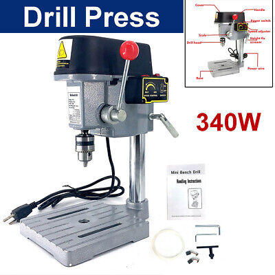 110v Drill Press Workbench 340w Compact Drill Wood Drilling Machine For Diy Dril