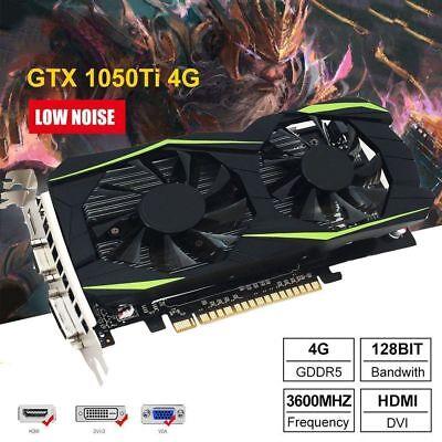 Hdmi Vga Card - GTX 1050Ti 4GB GDDR5 Graphics Card 128 Bit PCI-E Gaming Video HDMI VGA WX
