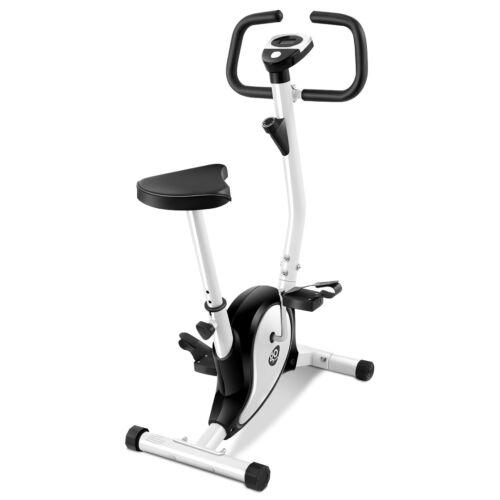 Exercise Bike Stationary Cycling Fitness Cardio Aerobic Equipment Gym Black