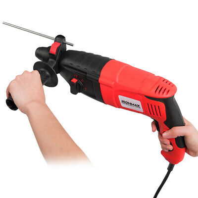 12 Electric Rotary Hammer Drill 3 Mode Sds-plus Chisel Kit 1100w Wbits