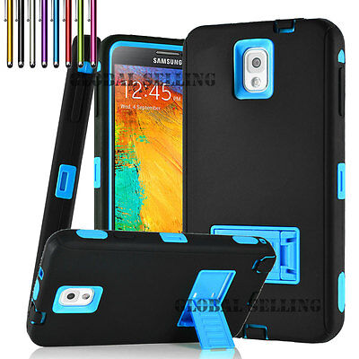 Hybrid Rugged Impact Rubber Hard Case Cover for Samsung Galaxy Note 2 /3 /4 2 Rubberized Hard Case