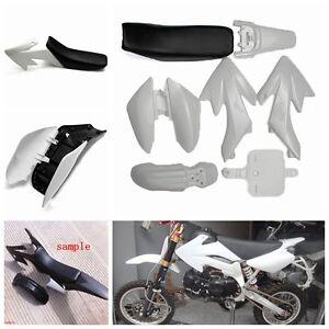 White 50cc 110cc 125cc 140cc Plastic 4-Stroke CRF50 Pit Bike Kit Mudguard Seat