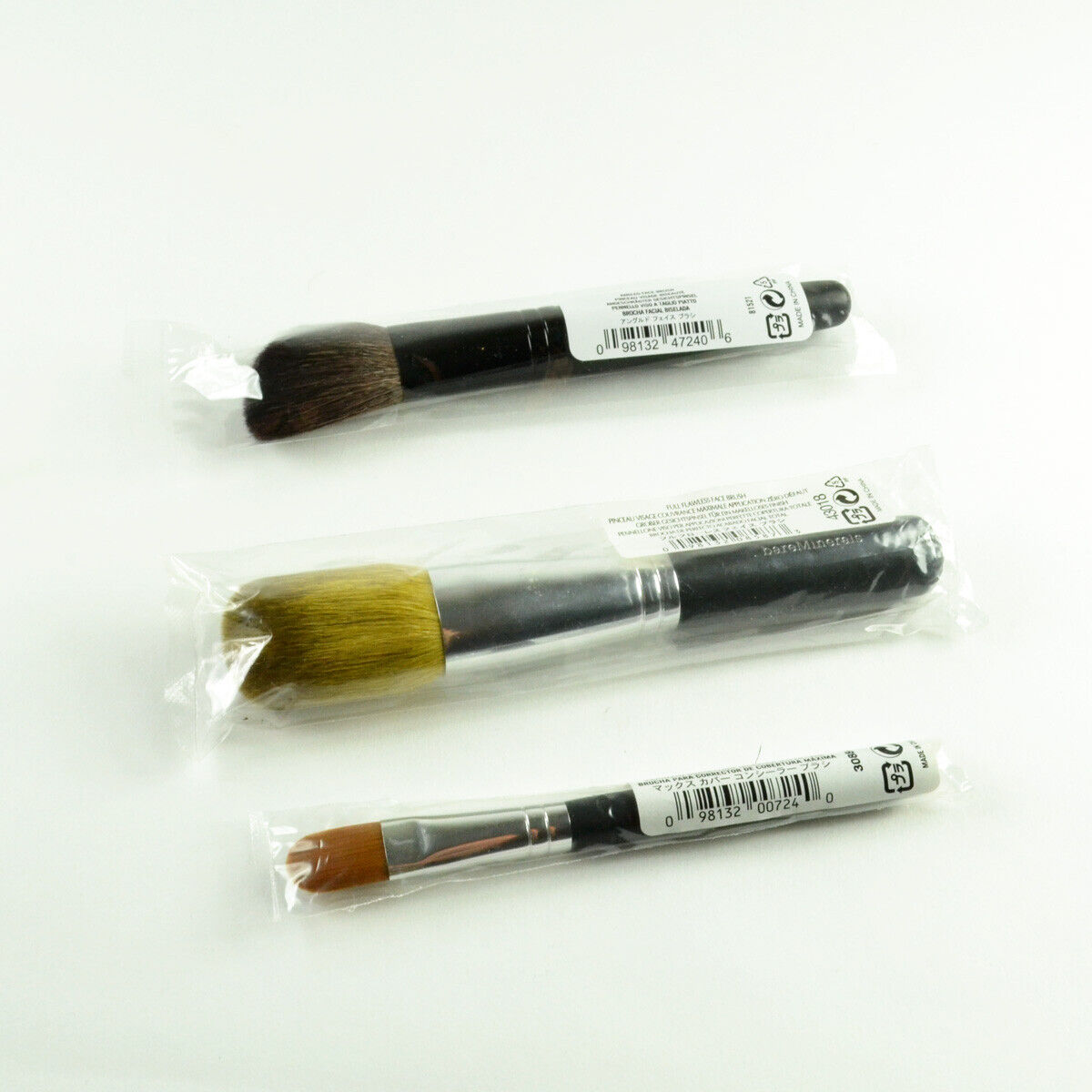 bareMinerals Set Of 3 Brushes Angled Face & Full Flawless Fa