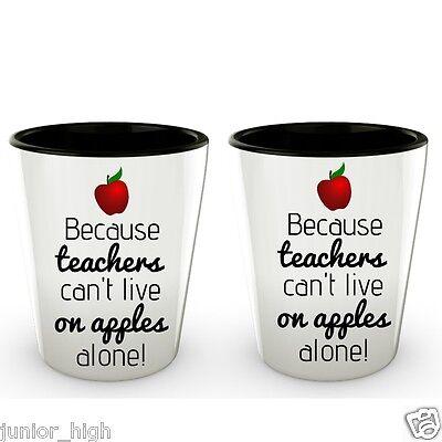 Best Teacher Appreciation Gifts Apple Shot Glasses Set Grad Birthday - Birthday Shot Glasses