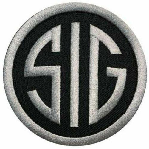 SIG Sauer Gun Patch VELCRO® BRAND Fastener (Black 3 In.)