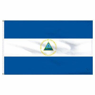 Nicaragua Flag 3×5 Indoor Outdoor Nicaraguan Central American Pennant Bandera Décor