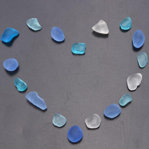как выглядит Sea Beach Glass Mixed Color Bulk Lot Blue Purple Jewelry Pendant Decor 10-16mm фото