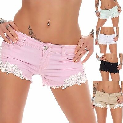 Sexy Hot Shorts (10144 Sexy Demin-Stoff Hotpants Short kurze Hose Hot Pants Shorts Panty jeans )