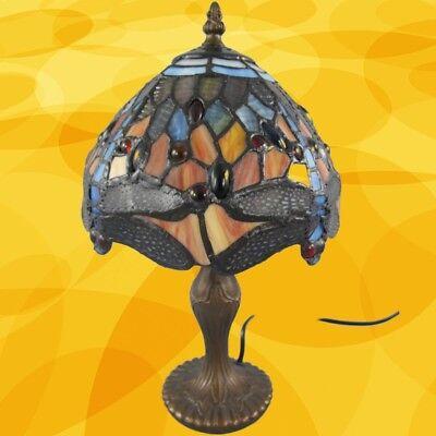 Tiffanylampe komplett Tisch Lampe Weihnachtgeschenk H.35-D.20cm  Tischleuchten