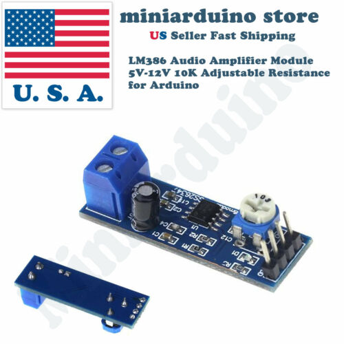 1 x Audio Amplifier Module For Arduino 200 Times Gain 5V-12V LM386