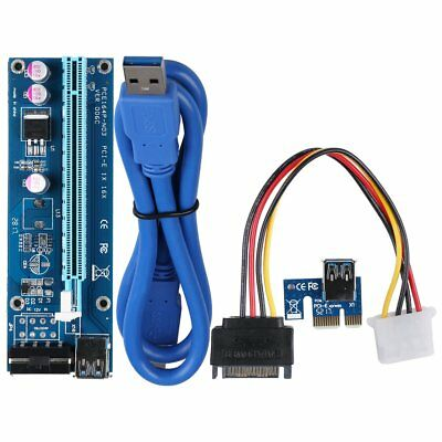 4PIN USB3.0 PCI-E Express 1x To 16x Extender Riser Card Adapter Power Cable US K - Pci Riser Card