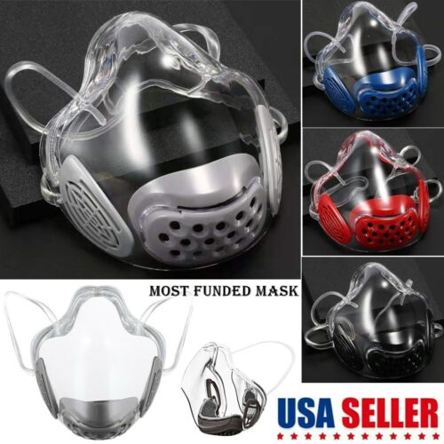 Durable Face Mask Shield Combine Transparent Lip Reading Protector Respirator US Business & Industrial