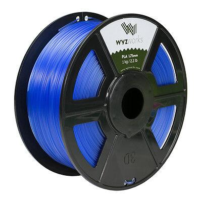 Wyzwork 3d Printer Premium Pla Filament 1.75mm 1kg2.2lb - Translucent Blue