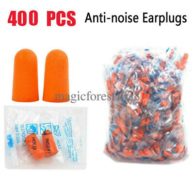 200400 Ear Plugs Lot Bulk Soft Orange Foam Sleep Travel Noise Shooting Earplugs
