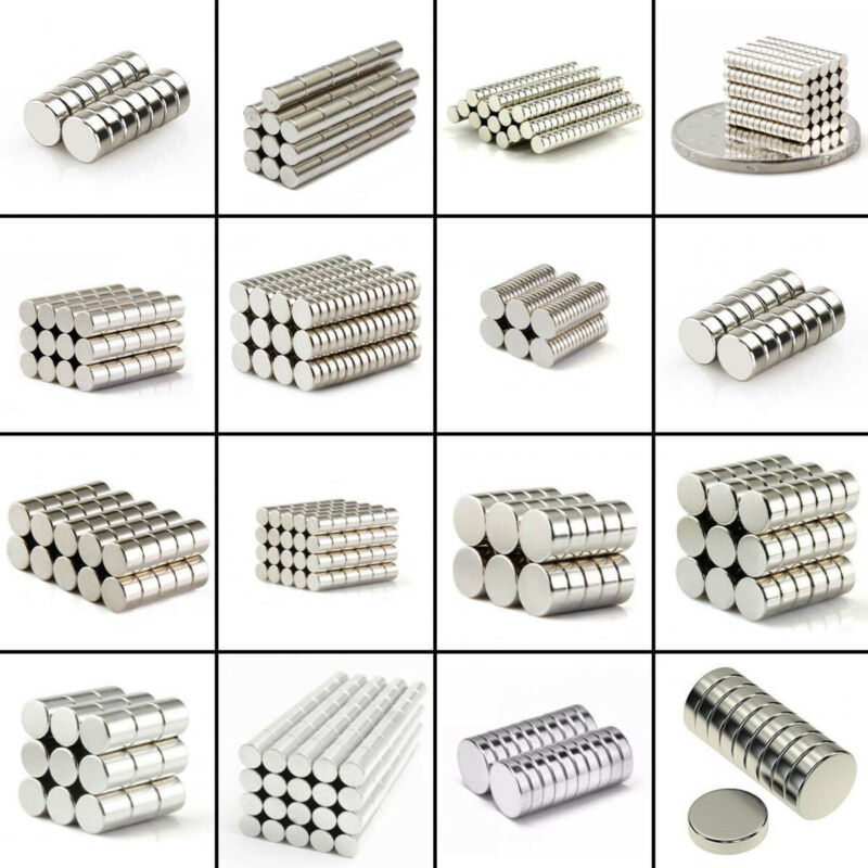 10-100Pcs Strong Round Disc 25x5mm to 4x1mm Magnets Rare-Ear