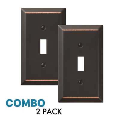 2-Pack Toggle Light Switch Wall Plate Decorative, Oil Rubbed Bronze Electrical Outlets, Switches & Accessories