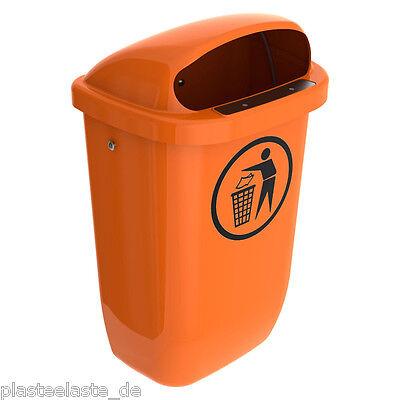 SULO Papierkorb orange Abfallbehälter 50 Liter - Der Klassiker -  (1x22293)