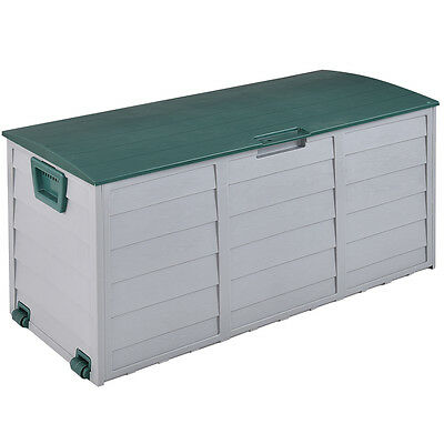 "44"" Deck Storage Box Outdoor Patio Garage Shed Tool Bench Container 79 Gallon"