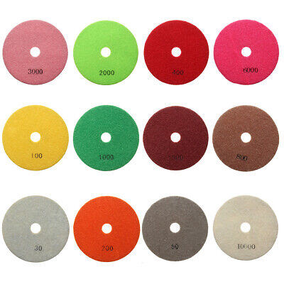45 Diamond Polishing Pads Wetdry Set Kit Granite Marble Stone Concrete Us