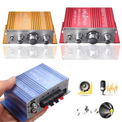 12V Mini 2CH Hi-Fi Amplificador Radio MP3 Estéreo Audio Coche Moto Barco...