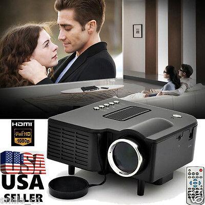 3000lm 1080P LED Multimedia Projector Home Theater Cinema AV TV VGA HDMI USB SD