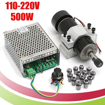 110v220v Cnc 500w Air Cooling Spindle Motor 52mm Clamps W 13pcs Er11 Collet