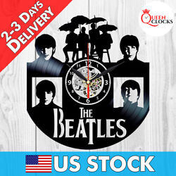 The Beatles Music Vinyl Record Wall Clock Fans Collection Gift Room Decor Art LP