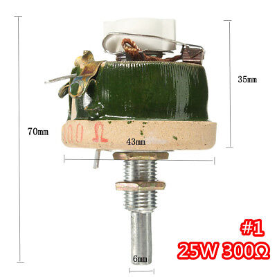 High Power Wirewound Potentioeter Rheostat Variable Resistor 25w 300 Ohm