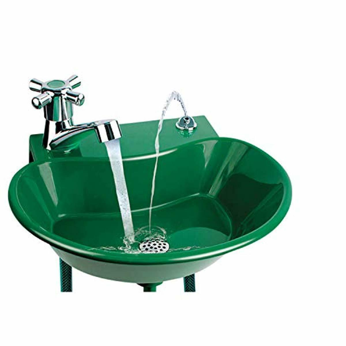 2-in-1 Outdoor Water Fountain and Faucet Plastic and PVC ...