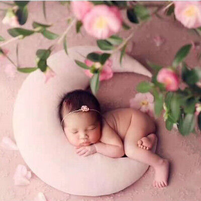 Moon Pillow Newborn Photography Prop Baby Posing Pillow Star Hat Set Baby Body P