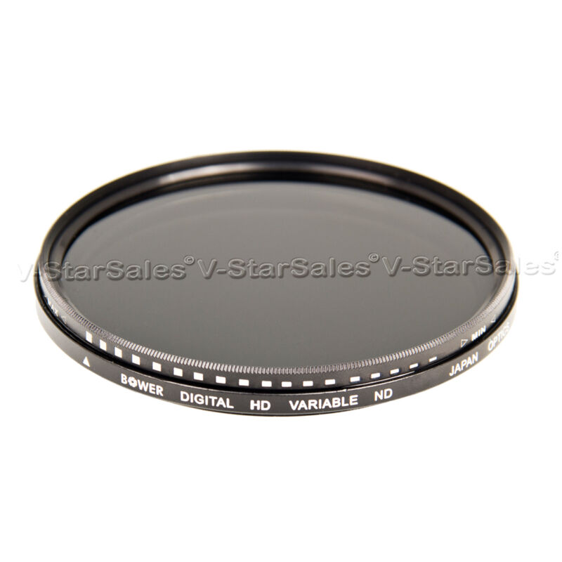 Bower 52mm Variable Neutral Density Fader NDX Filter ND2 to ND1000  FN52