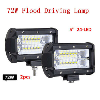 2PC 72W 12/24V 24LED Car Work Light Bar For Jeep Truck Boat Offroad + (Best Light Bars For Cars)