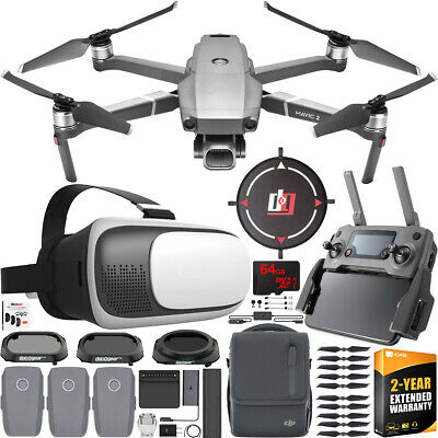 DJI Mavic 2 Pro Drone with Hasselblad Camera + Fly More Combo + FPV Pilot Bundle