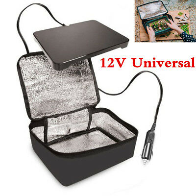 Portable 12V Lunch Box Stove Car Hot Food Warmer Heated Electric Oven Camping