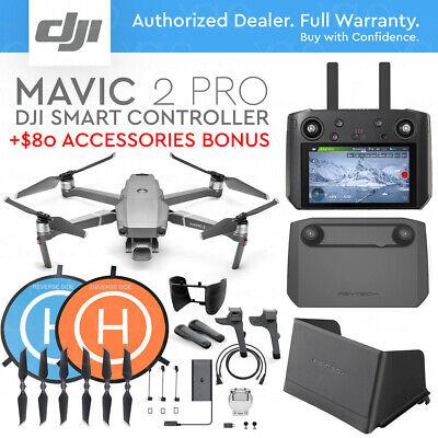 "DJI MAVIC 2 PRO w/ SMART REMOTE CONTROLLER 5.5"" HD DISPLAY + ACCESSORIES COMBO"