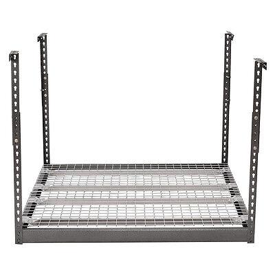 (Overhead Garage Ceiling Storage 4'x4' Heavy Duty Height Adjustable Hanging Rack)